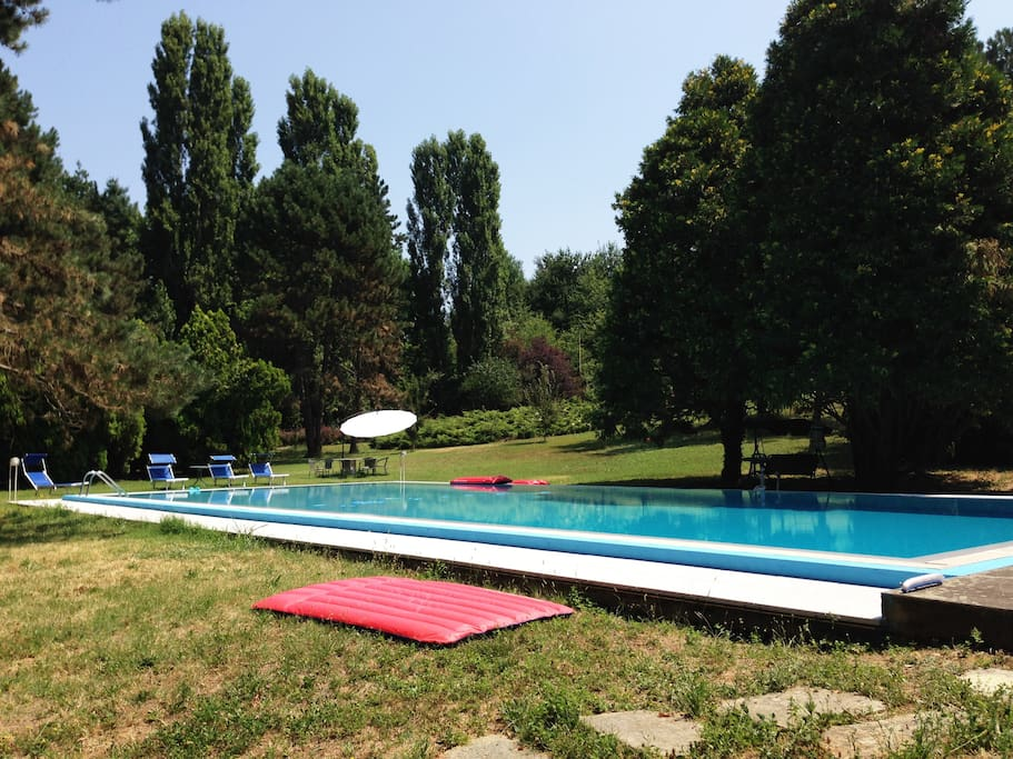 Swim in our almost Olympic Size Pool with a diving board