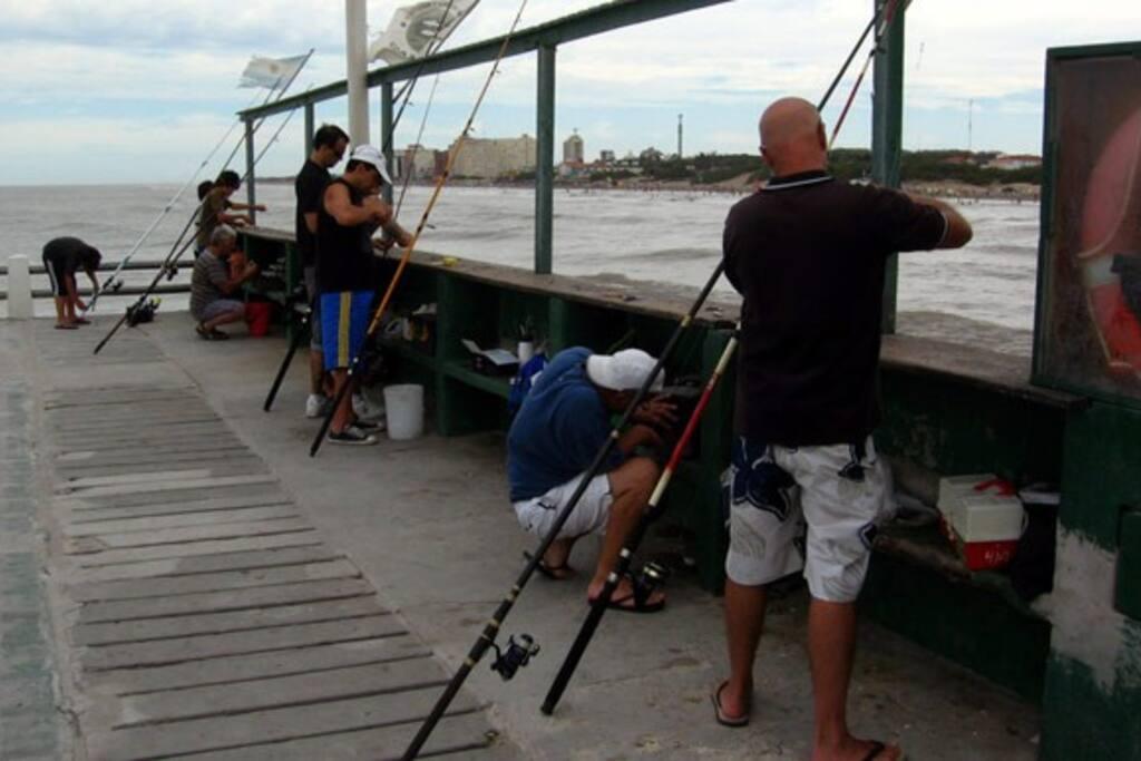 Hermoso muelle para los que les gusta la pesca.