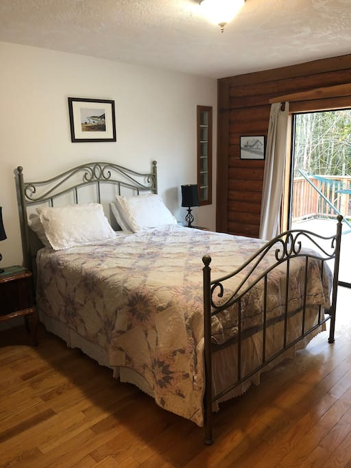 Master bedroom with ensuite bathroom.