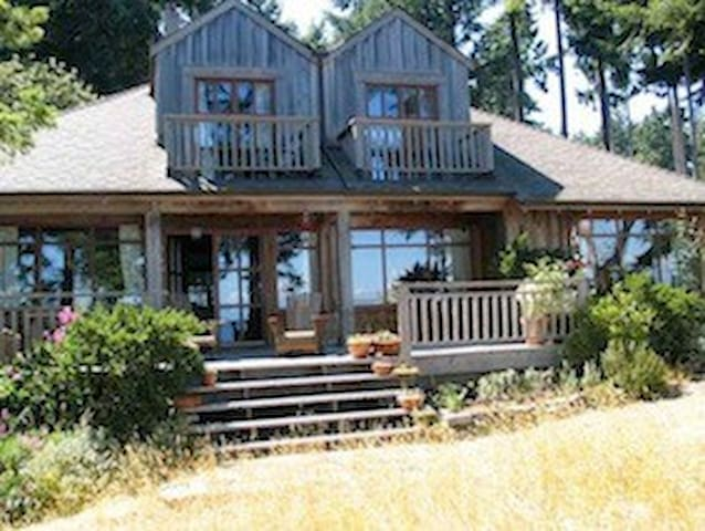 West coast post and beam waterfront home.