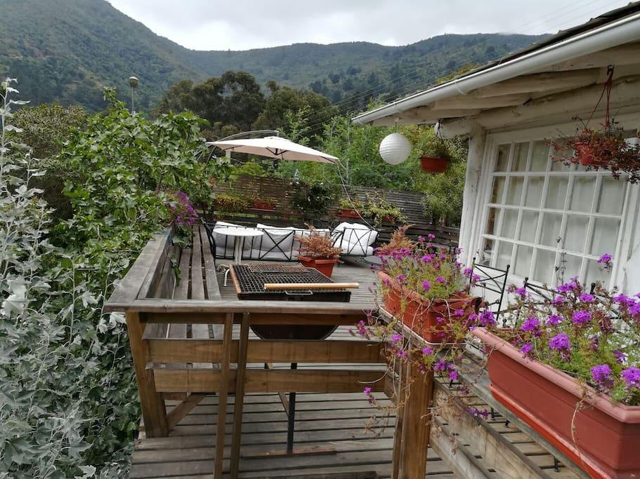 Terraza vista desde la terraza del cuarto matrimonial