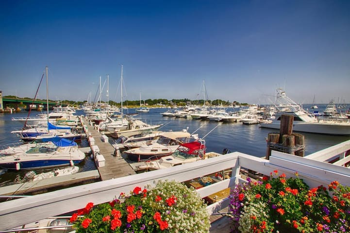 Locals dock their boats, and visitors bring their boats from across the country and the world to dock along the Merrimack river.