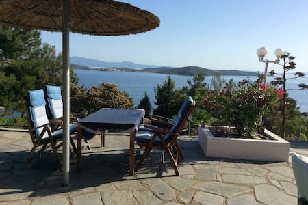 Athos Studio in Villa with stunning views