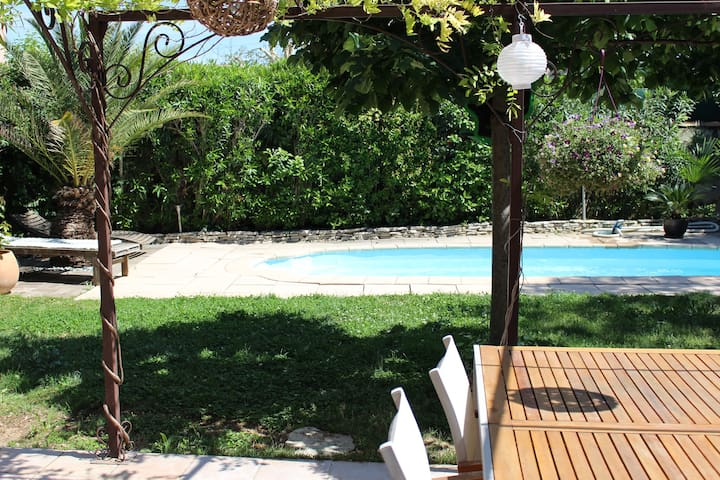 Villa avec piscine chemin de pagnol