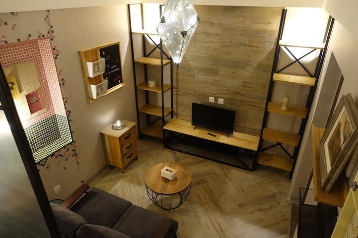 呈贡中心商圈 涌鑫哈佛 文艺复古复式整套精装公寓