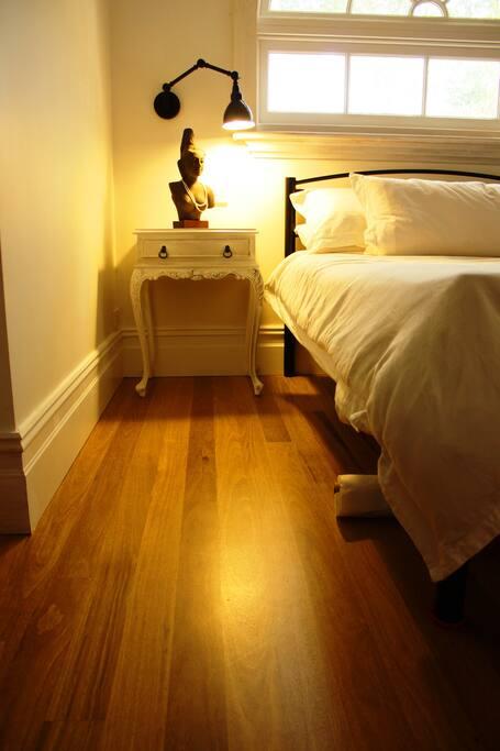 Warm feel with beautiful floorboards