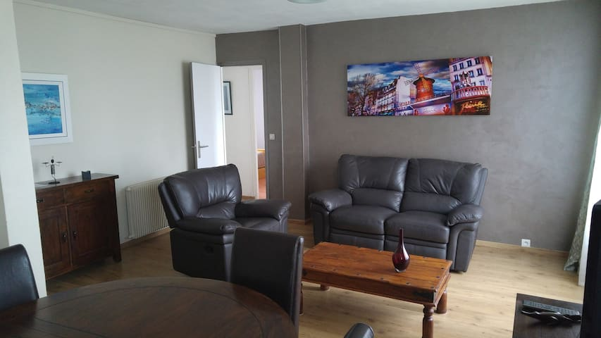 Rouen Appartement 65m2 - 2 chambres parking facile - Le Petit-Quevilly - Apartemen