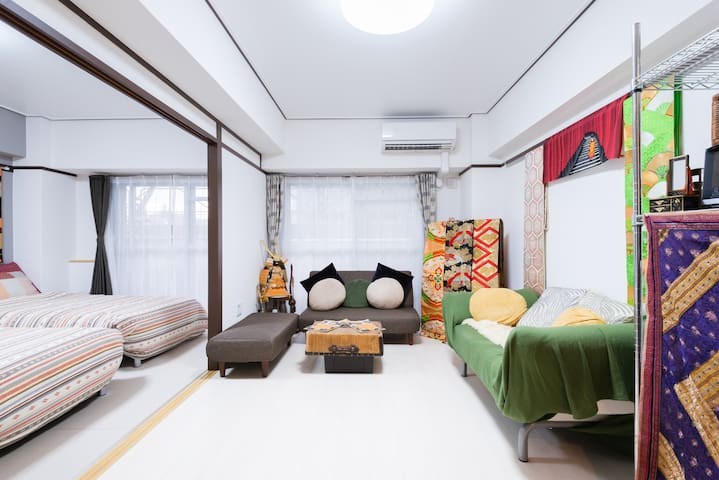 2bedroom, to Gion Nijojo 15min, JR Hankyu st 5min - Nakagyō-ku, Kyōto-shi - Appartement