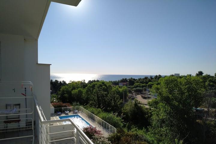 Bilocale con terrazza vista mare - Torre Cerrano