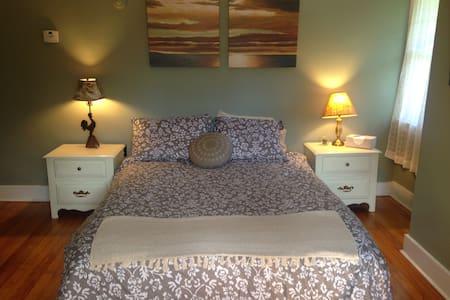 Sage Room -  Queen Bed. - Saranac Lake