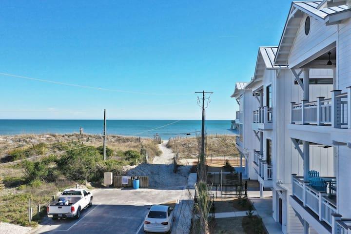 28 Steps to Beach Access! Brand New Duplex