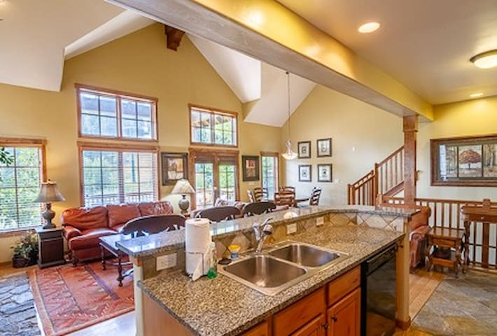 Kitchen Island and Seating Area
