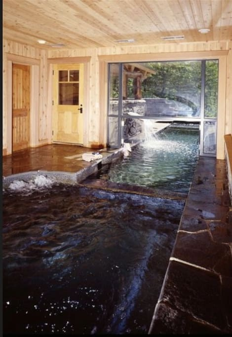 The spa room and indoor pool.  Enjoy a sauna or steam shower too!