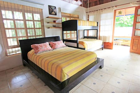 Our bungalow Tranquilo! It is perfect for families.
