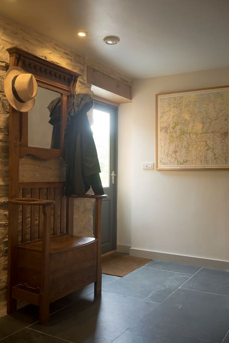 The front door and local map
