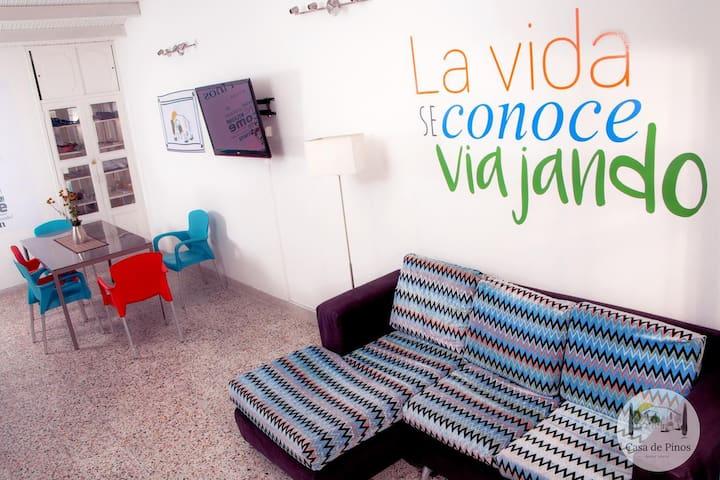 habitación para 4 personas en Hotel de Cabecera