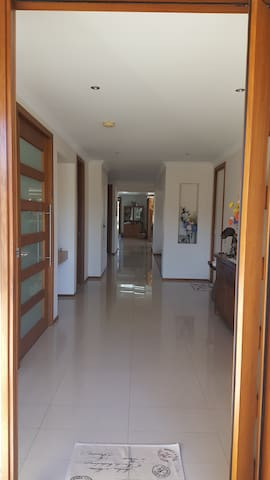 WIDE ENTRY HALLWAY TO THE HOUSE FROM THE STREET