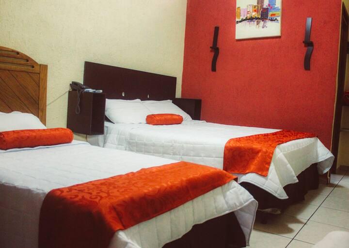 Habitación doble - Hotel boutique en Santa Tecla