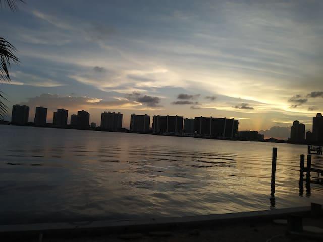 Beautiful sunset view.
