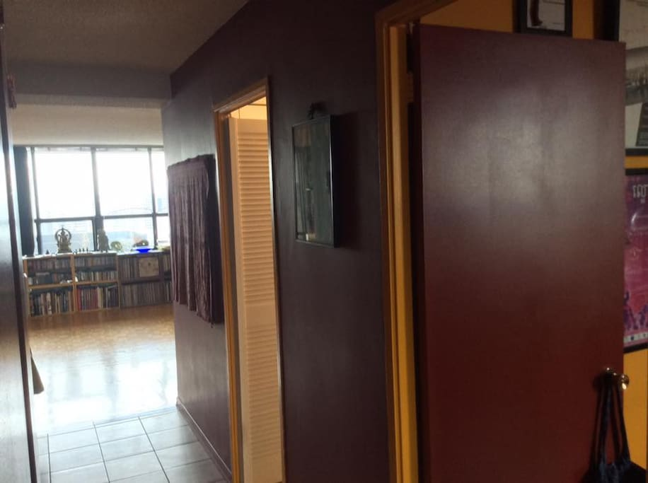 view of living room from hallway