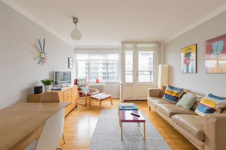Quiet & spacious, central, two bedroom apartment.