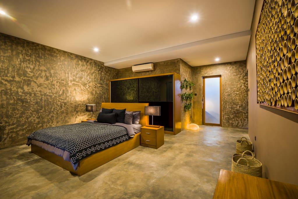 Villa luxueuse d 39 une chambre avec piscine et bain remous - Chambre avec bain a remous ...
