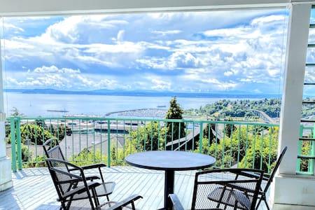 Sweeping Views & Prvt Deck | 2BR w Kitchen+Parking