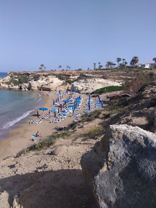 The local beach of Kapparis resort(15 minutes walking time Protaras Eastern coast apartment