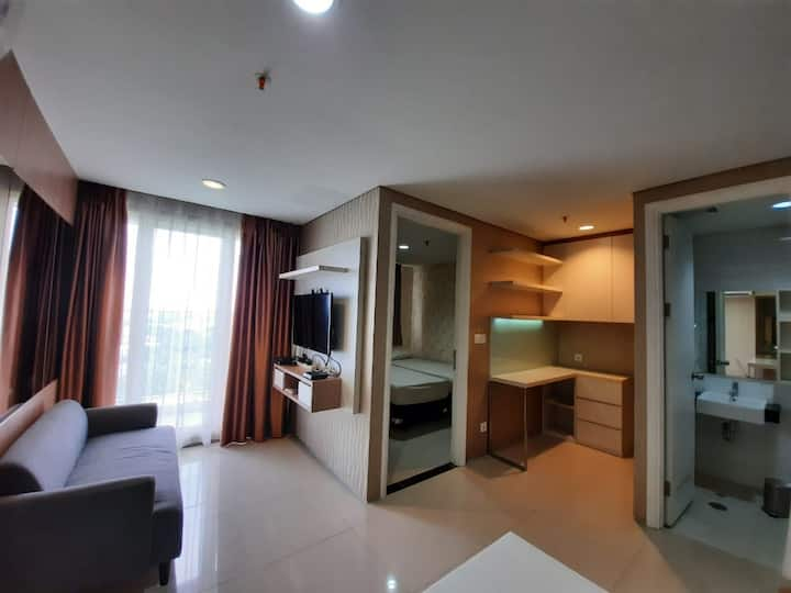 Modern and Cozy 1BR Apartment, at Intermark BSD