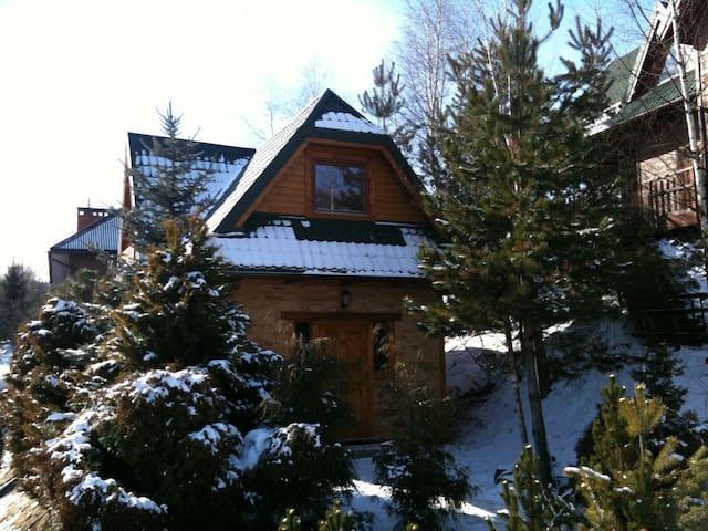 Domek z kominkiem i sauną w Krynicy - Krynica-Zdrój - Casa