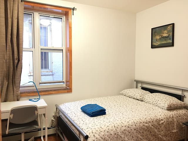 Nice new bedroom Near D train and Maimonides in BK