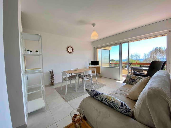 Appartement F2 vue mer Aiguebelle Le Lavandou