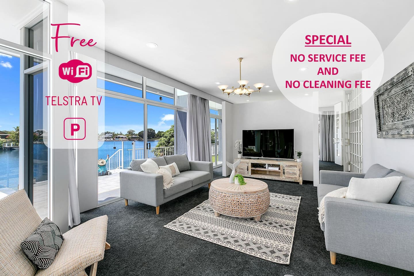 Gold Coast Luxury Resorts welcomes you to our Havana Blue Holiday Home.  We don't charge our guests a SERVICE FEE or CLEANING FEES.. Because we love our guests :)