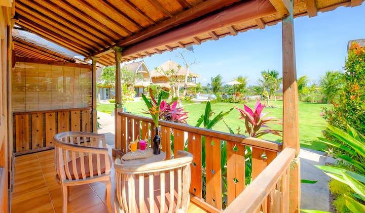 Arjuna Canggu Wooden Green Paradise Bungalow