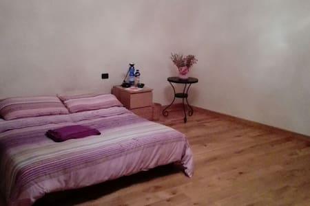 Stanza con divano letto e TV - Brusnengo