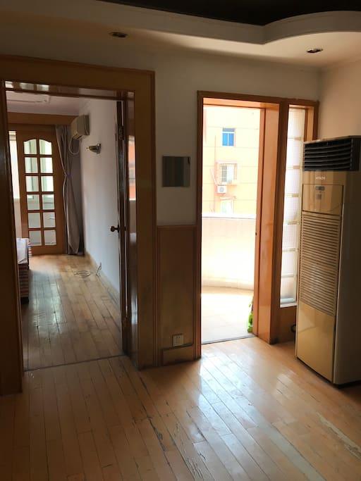 露台,客厅带空调
