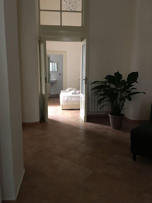 Salone e camera da letto