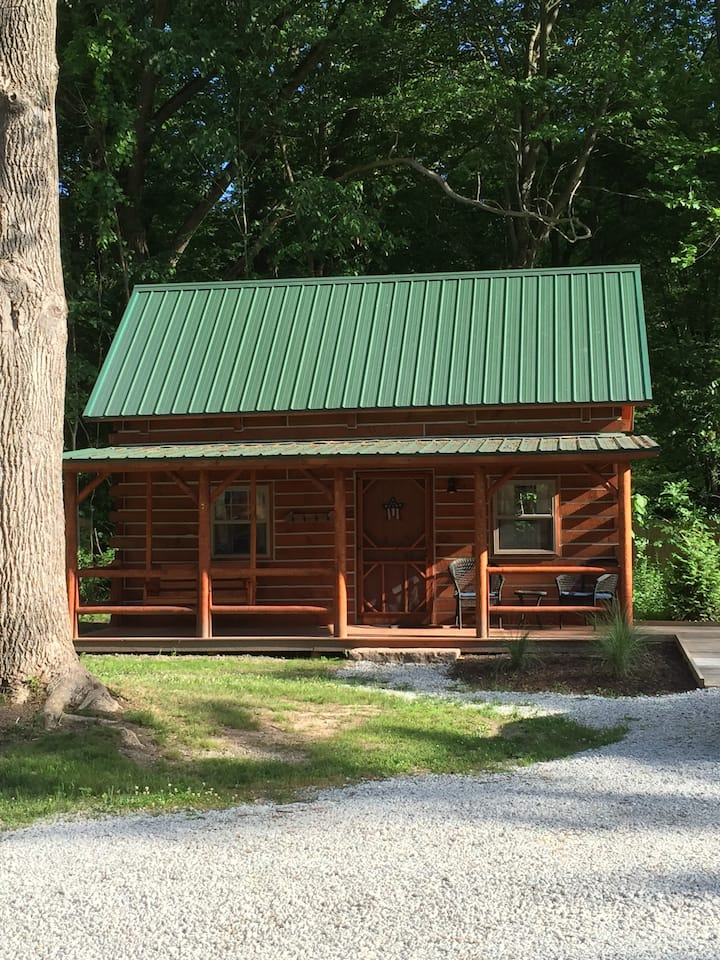 New! The Pine log cabin near Warren Dunes