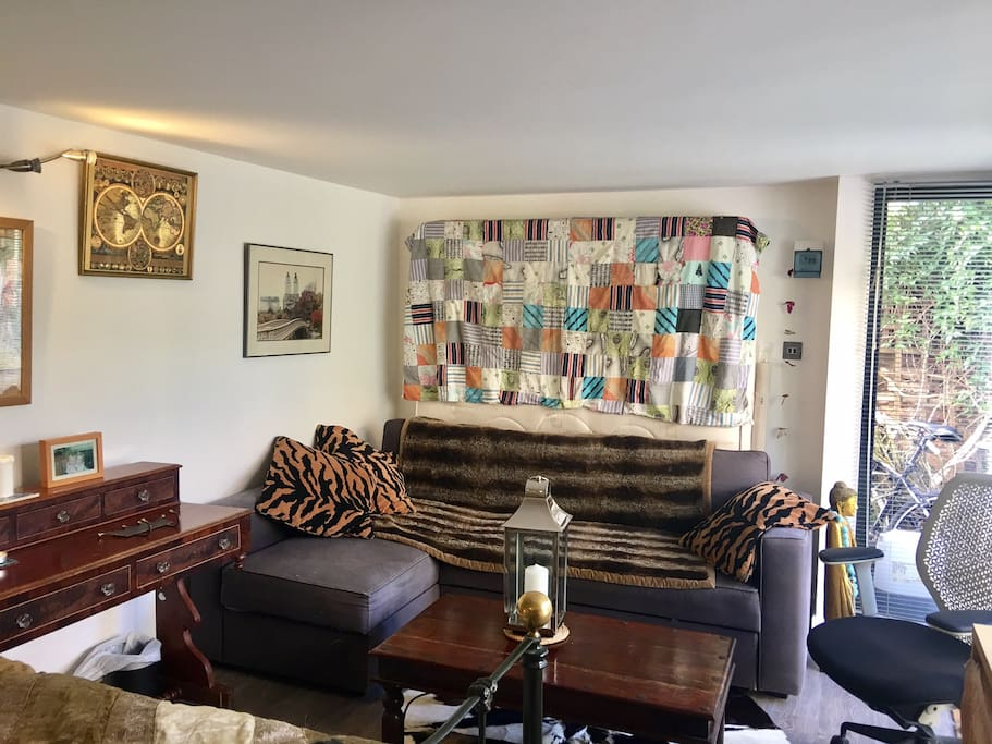 Living area in studio