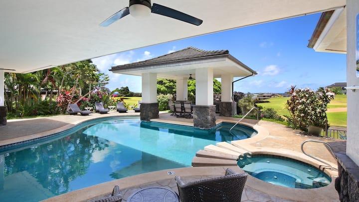 AC Throughout, Pool, Spa with Fairway & Distant Ocean Views!