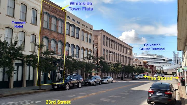 Whiteside Town Flats -historic downtown Galveston