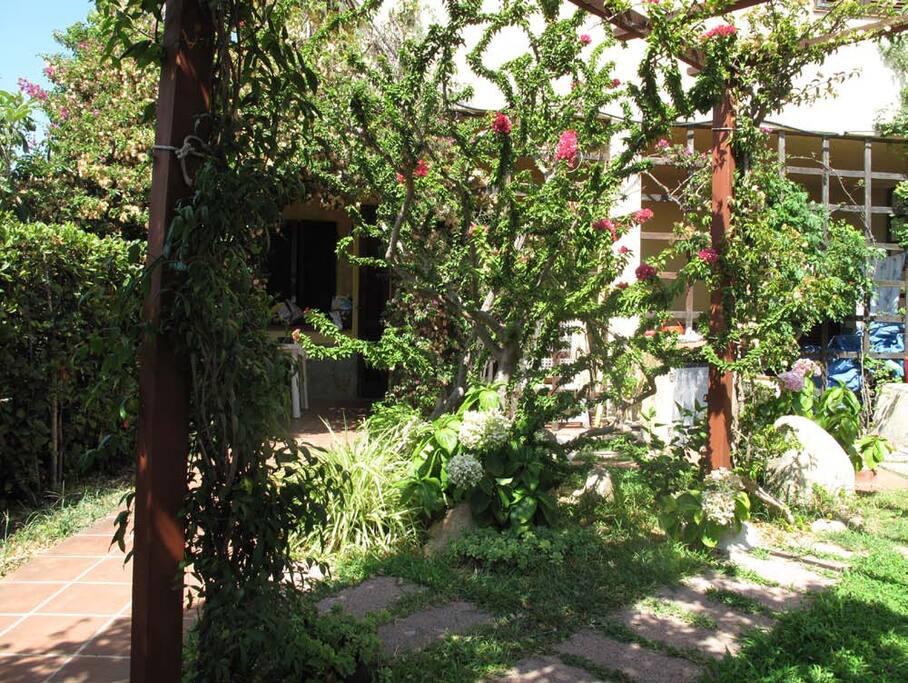 Giardino privato davanti alla veranda
