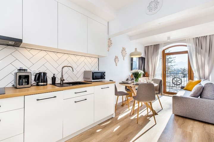 Biały- apartament z widokiem na Tatry