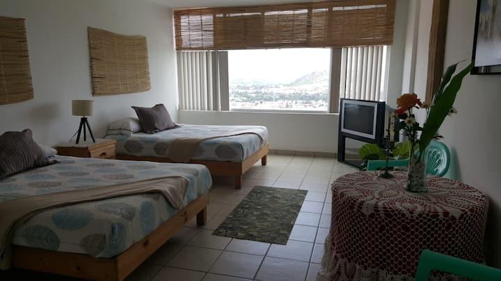 Impecable apartamento acogedor, vista espectacular