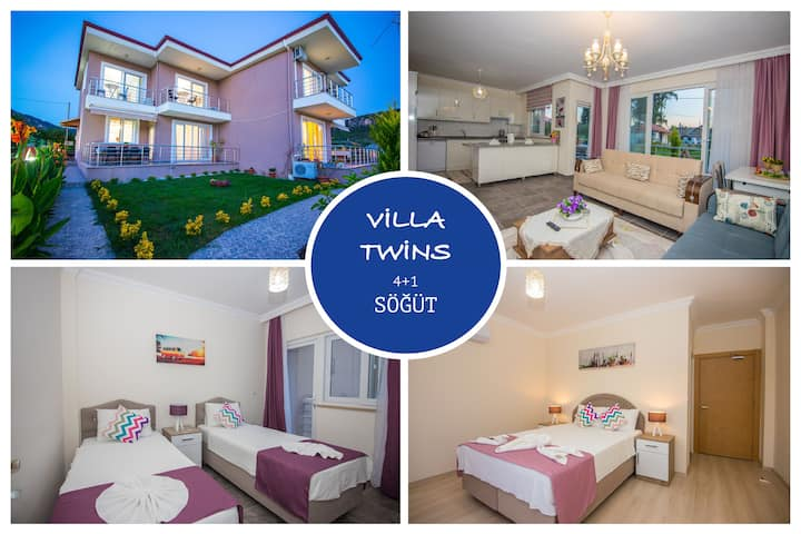 Villa Twins Söğüt Village Daily Weekly Rentals