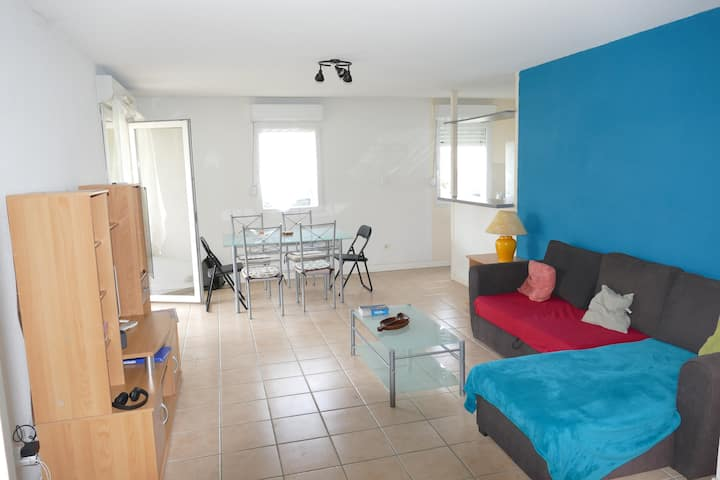Appartement sécurisé RDC  piscine, fitness, tennis