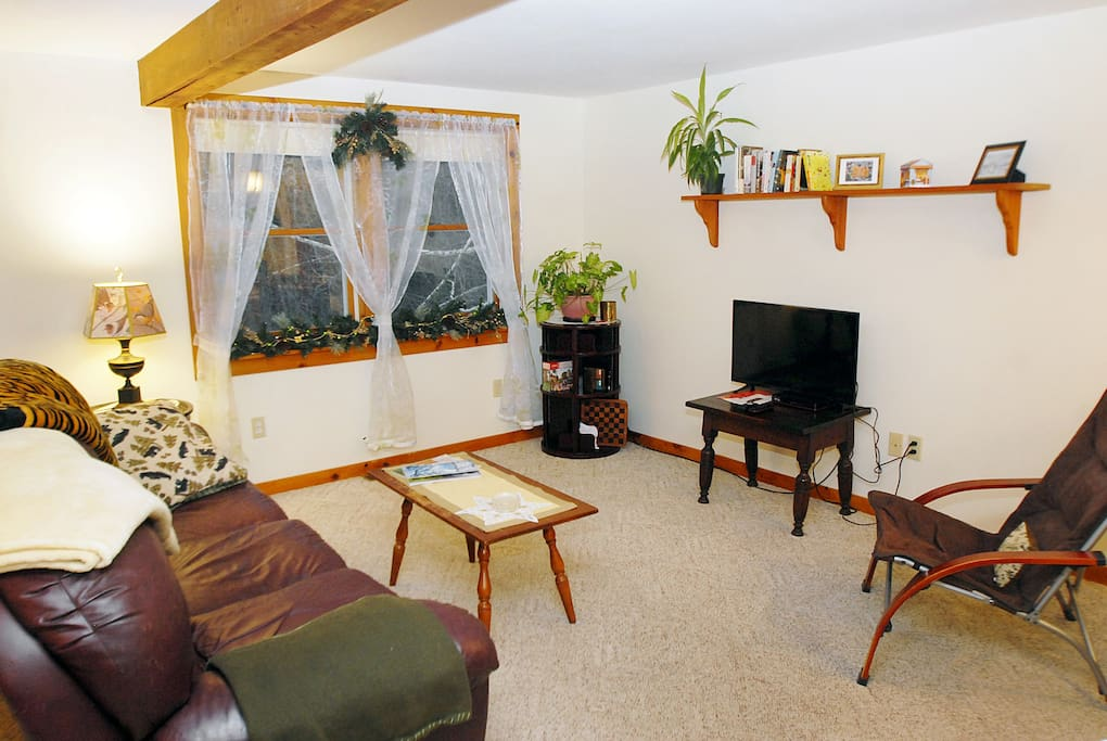 Living room - enjoy Sat TV or pick a book; or flip out the recliner and take a nap