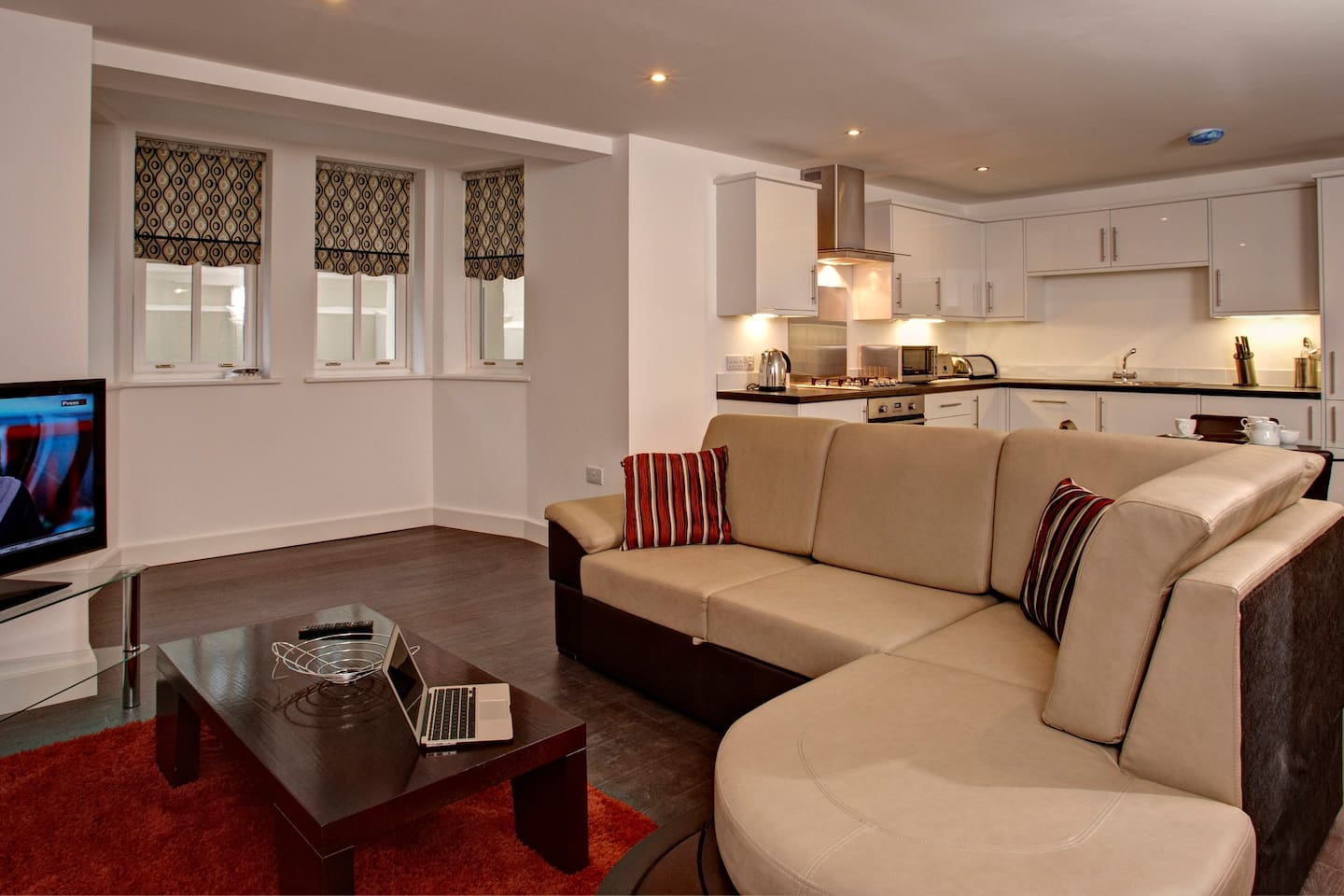 A living area at one of Strathmore House Apartments