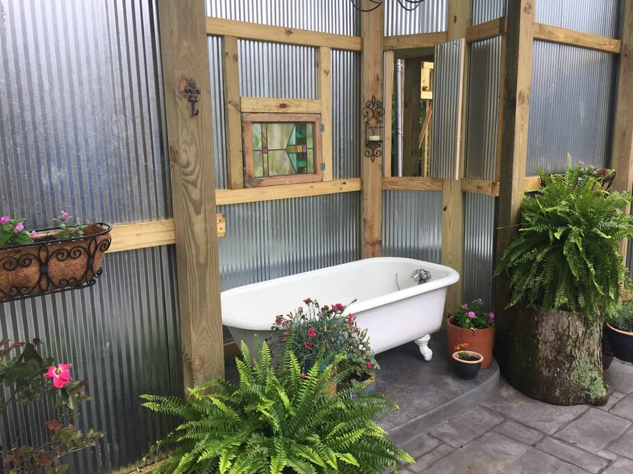 The Outdoor Open Air Bath is an Oasis of Relaxation