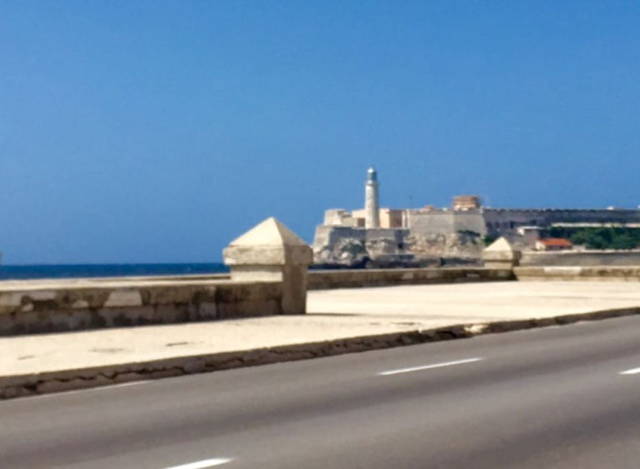 House is located just blocks away from El Malecon! Take a nice walk down historic bay side Havana.